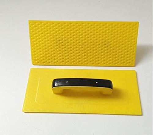 Manejador ergonómico hecho paleta de yeseros 1pc 35.5x15cm templado plástico yeso paleta de hormigón construcción espátula masilla utensilio de revestimiento