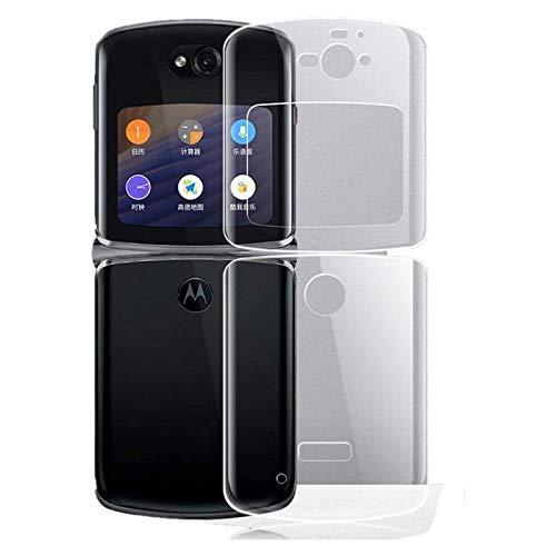 Yagerod für Motorola Razr 2020 Hülle, für Motorola Razr 5G Original Vegan Leder Hybrid Hard PC Hülle Abdeckung, Anti Wasser, Öl, Anti-Fingerabdruck Transparent