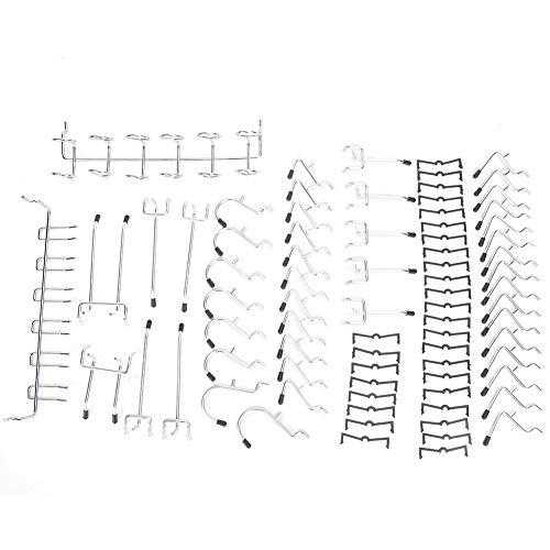 Surtido de ganchos para panel perforado, 80 unidades, juego de ganchos para...
