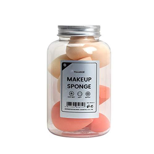 8pcs éponge de maquillage, gourde en forme de maquillage Puff Boxed Foundation Beauty Pong Sponges Eggs (Orange)