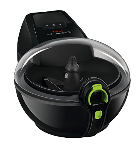 An image of the Tefal Actifry Air Fryer AH950840 Family Express Xl (8 Portions) Low Fat Healthy Fryer, 1550 W, 1.7 Kg - Black