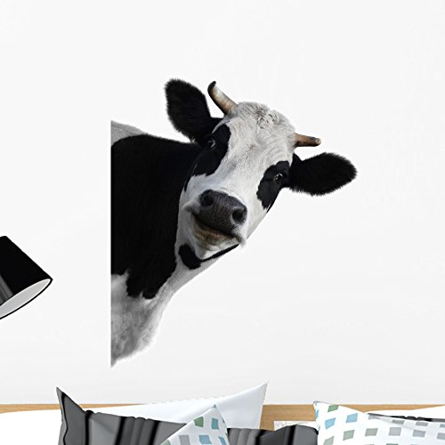 Wallmonkeys WM269921 Cow Peel and Stick Wall Decals (24 in H x 21 in W), Medium