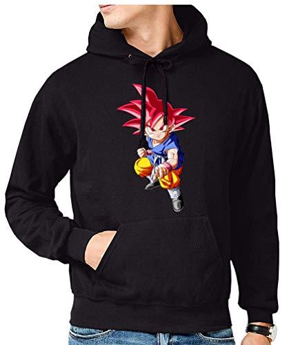 The Fan Tee Sudadera de Hombre Dragon Ball Goku Vegeta Bolas de Dragon Super Saiyan 071 L