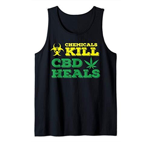 Chemicals Kill - CBD Heals - Weed Plant...