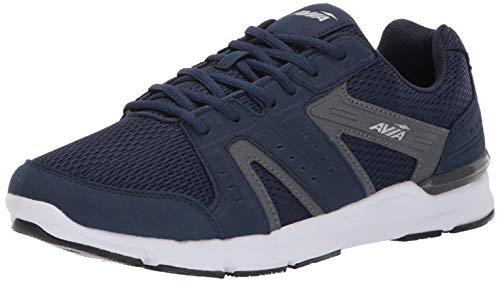 Avia Men's Avi-Edge II Sneaker, True Navy/Iron Grey/Chrome Silver, 7 Wide US
