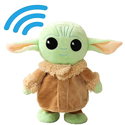 Baby Yoda Plush Toy, Talking Walking Toy Doll, Stuffed Cute Animal Doll Soft Plushies Gifts, I Say What You Say, for Birthday, Children's Day, Life like Ornament, 7.8 Inch