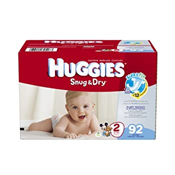 Huggies Snug & Dry Diapers Size 2 92 Count