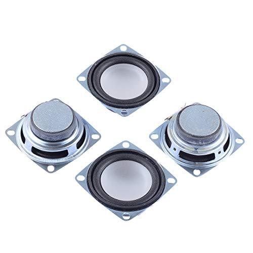 Cylewet 4Pcs 2inch 4Ohm 3W Full Range Audio Speaker Stereo Woofer Loudspeaker for Arduino and DIY Speaker (Pack of 4) CYT1120