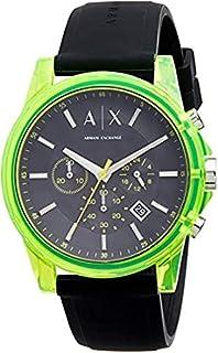 Armani Exchange AIX Men's Chronograph Black Silicone Watch AX1337
