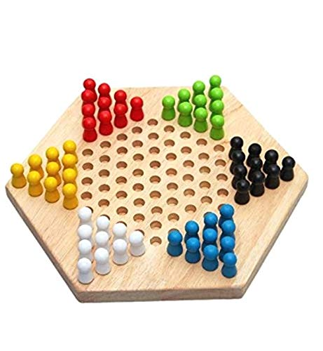Traditionelles Gesellschaftsspiel sechseckig