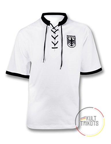 Generique - Deutschland-Trikot 50er-Jahre schwarz-Weiss XL