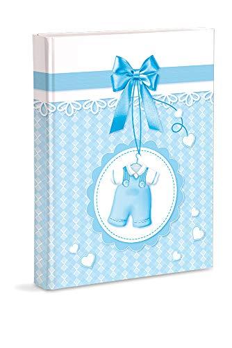 Mareli Fotoalbum, hellblau, Geburt, 21 x 28 cm, mit Taschen, für 200 Fotos 13 x 18 cm