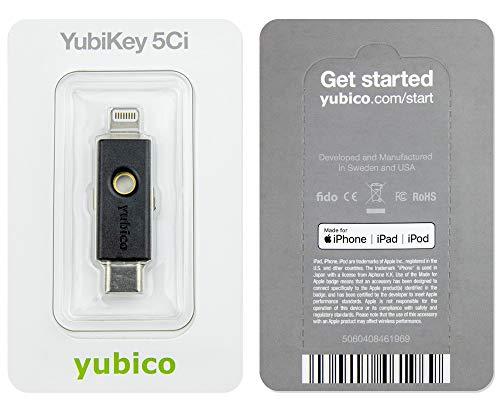 YubiKey 5Ci (2 Faktor Authentifizierung, 2 Anschlüsse: USB C + Lightning für iPhone) - 4