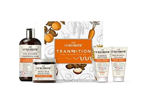 Curlsmith - Transition Kit - Vegan Haircare Kit for Dry, Wavy, Curly or Coily Hair (1 x 12oz, 1 x 8oz, 2 x 2oz)
