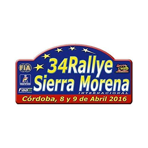 Pegatina Placa Rallye Sierra Morena 2016 PR197