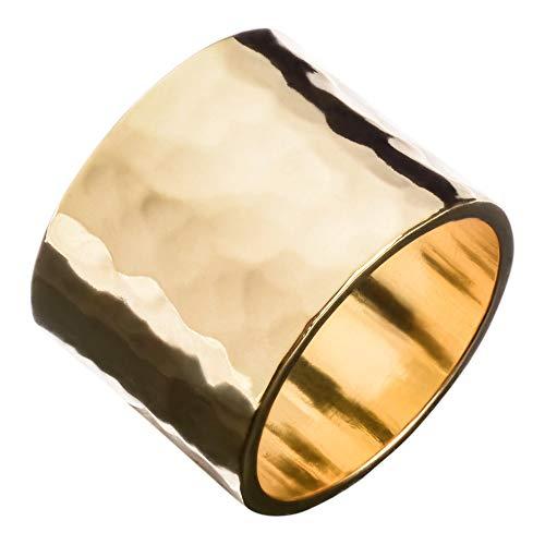 Eklexic Hammered Cigar Band Ring