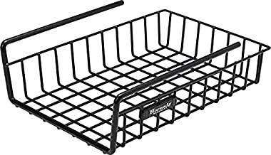 Hornady Hanging Shelf Document Basket, 96012 - Coated Wire Basket Maximizes Storage for Documents, Gun Accessories, & Ammo - Easy Access Under Shelf Storage for Gun Safes - Holds Up to 40 Pounds