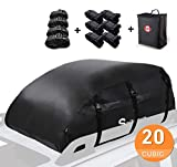 Sailnovo Waterproof Rooftop Cargo Carrier PRO, 20 Cubic Feet Heavy Duty Roof Top Luggage Storage Bag, with 10 Reinforced Straps + Carrying Bag - Perfect for Car, Truck, SUV with/Without Rack