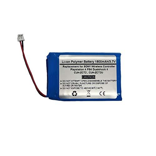 1800mAh 3.7V Ersatzbatterie für Sony Playstation 4 PS4 Dualshock 4 Wireless Controller CUH-ZCT2, CUH-ZCT2U, New 2016 Version