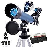 HUTACT Telescope Astronomique Adulte Télescopes 200X Enfants Étudiants Télescopes Réfracteurs Professionnels à Ouverture de 50 mm pour Débutant - Regardez la Lune, Les étoiles et Les Animaux