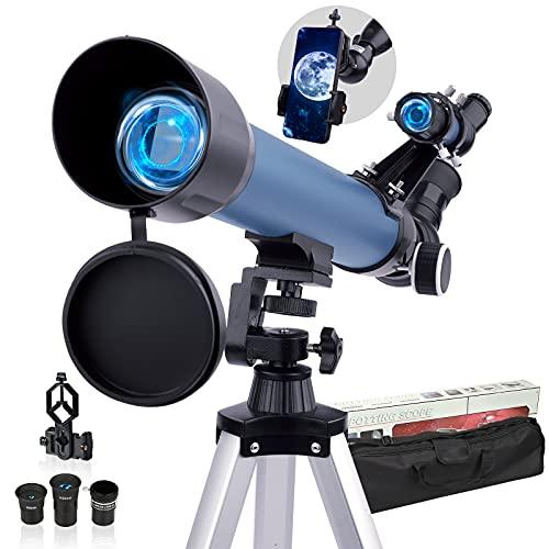 HUTACT Telescope Astronomique Adulte Télescopes 200X Enfants Étudiants Télescopes Réfracteurs...