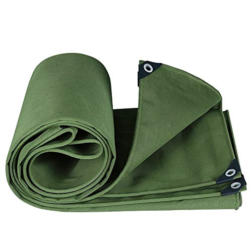 Zceras Canvas Tarp Cover with Eyelets for Boat Anti Scratch Wear Resistant Sunshade Tarpaulin Heavy Duty Shelter Outdoor Waterproof (Color : 1.8X1.8m)