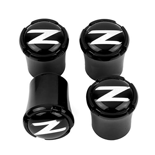 HEM HIGH-END MOTORSPORTS Black Tire Valve Stem Caps for Nissan 350Z & Nissan 370Z, Z Logo, Made in USA
