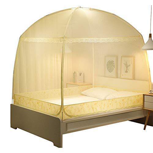 Mongolischen Jurte Doppel-Tür Moskito Net Falten in der Lage Bett Net Einzigen Doppel Menschen Moskito Net Anti Moskito Bett Zelt,150 * 200 * 170CM
