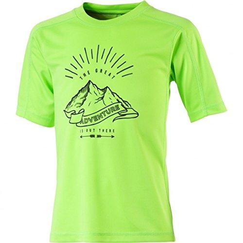 McKinley Kinder T-Shirt Carli Dry-Plus Eco Outdoor- Wandershirt Grün Neu, Kinder Größe:152