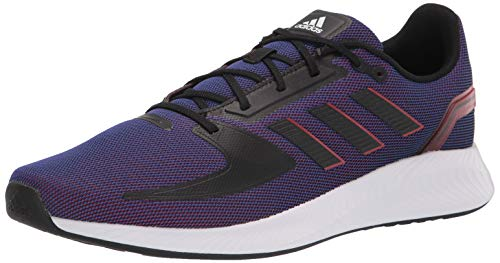 adidas Men's Runfalcon 2.0 Running Shoe, Semi Night Fl/Black/Scarle, 13