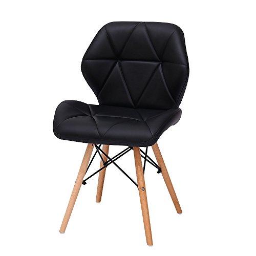 G-Y Sofa Paresseux, Chaises D'ordinateur Modernes Simples, Chaises De Bureau En Bois Solide, Dinette (Couleur : Noir)