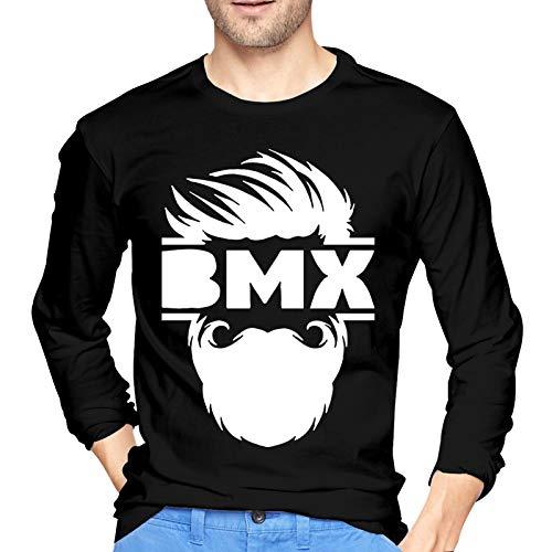 Mark Stars Bearded Bmx Bike - Camiseta deportiva de manga larga para hombre (talla XL), color negro