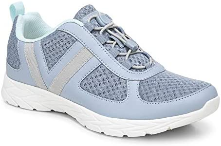 Vionic Women's Brisk Maren Leisure Sneakers - Supportive Walking Shoes That Include Three-Zone Comfort with Orthotic Insole Arch Support, Medium and Wide Fit