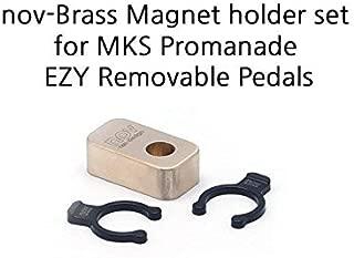 Dino Kiddo Nov Brass Magnet Holder Set for MKS Promenade EZY Removable Pedals for Brompton Folding Bike