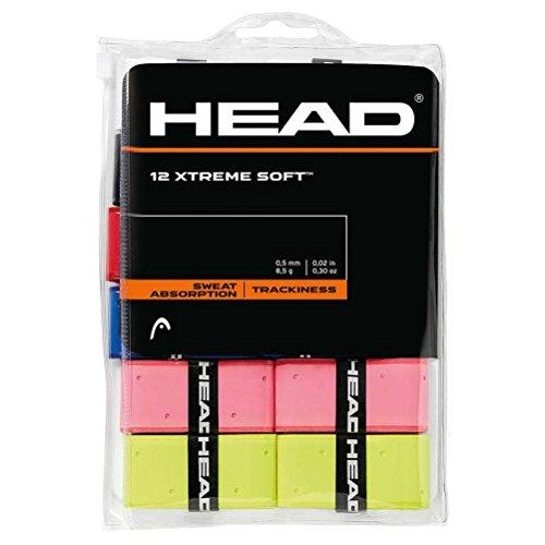 12 Overgrip Head Xtreme Soft tennis grips Cinta para mango de raqueta de tenis colorido