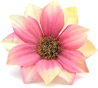 QFH 10 PCS 6cm Artificial Flower Home Party Decoration Wreath DIY Flowers(Bloody) Art fashion decoration gift (Color : Ros...