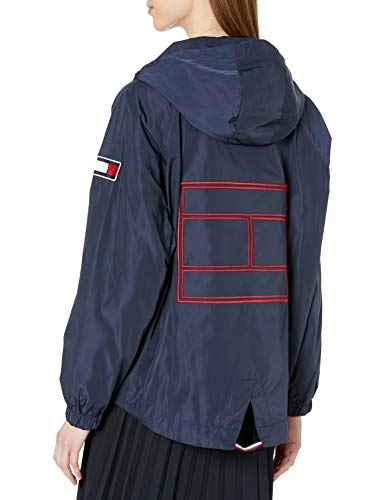 Tommy Hilfiger 女士标志性运动连帽风衣外套