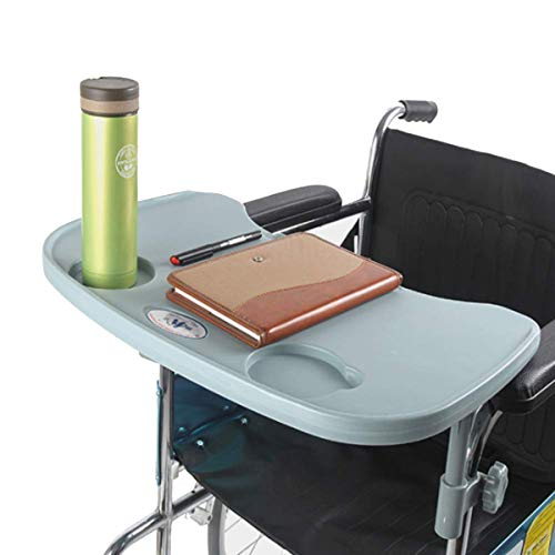 Wheelchair Tray, Durable Wheelchair Tray Table with 2 Cup Holders for Disable Eating Reading Writing Crafts Wheelchair Tray Table Accessories