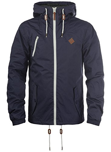 !Solid Tilden Herren Übergangsjacke Herrenjacke Jacke gefüttert mit Kapuze, Größe:XL, Farbe:Insignia Blue (1991)