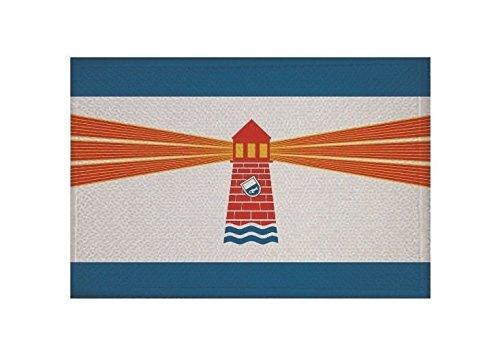 U24 Aufnäher Westerland auf Sylt Fahne Flagge Aufbügler Patch 9 x 6 cm