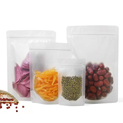 Best Buy! Stand Up Matte Clear PE Reclosable Zipper Food Package Bag Powder Spices Candy Doypack Pla...