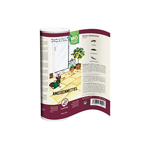 Plantura Bio-Ameisenmittel, zuverlässige Bekämpfung von Ameisen & Co. wirkt biologisch & giftfrei, Pulver anwendbar im Haus, auf Wegen und im Garten, 150 g