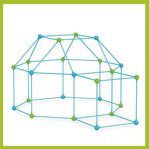 DIY Forts Steckstabbaukasten, Play Tent, Spielzelt, XXL Kantenmodell, Konstruktionsspiel, Bauspiel (270 Teile)