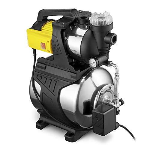 TROTEC TGP 1050 E Hauswasserwerk mit Vorfilter & Druckkessel aus rostfreiem Edelstahl Gartenpumpe Wasserwerk Wasserpumpe 1.000 Watt Leistung 3.300 l/h Förderleistung