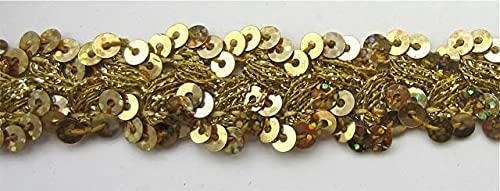 Max 52% OFF Jamali Garden Trim with Discount mail order Gold Bullion Intertwi Sequins and Thread