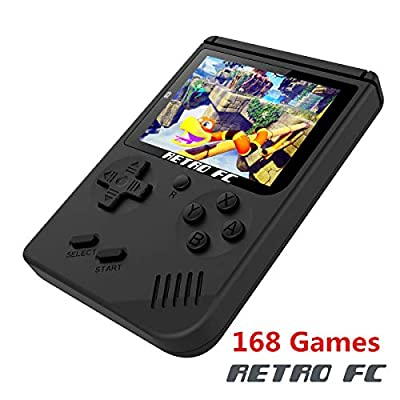 BAORUITENG Handheld Game Console , Retro FC Game Console 3 Inch Screen 168 Classic Games TV Output Game Player , Birthday Present for Children from BAORUITENG