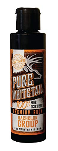 Pure Whitetail Bachelor Group Buck Urine - 4 oz, Fresh 100% Pure Mock Scrape Attractant and Calming Cover Scent from Multiple Bucks