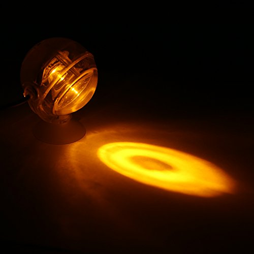Decdeal LED Acuario Impermeable Luz Sumergible,Diseño de Lentes Convexos Spotlight,Luz Decorativa del Tanque de Peces