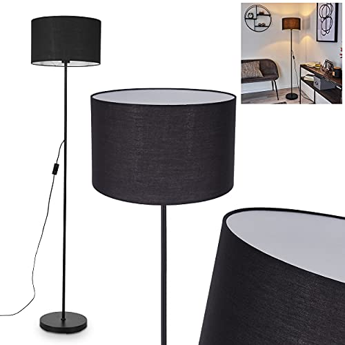 Lámpara de pie Stenninge de metal con pantalla de tela en color negro, con efecto de luz, 1 bombilla E27 máx. 42 W, con interruptor de encendido/apagado en el cable