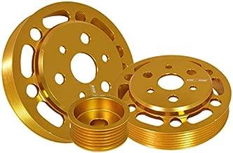 Fit 2012-2014 Subaru BRZ/Toyota FRS 3 Pieces Aluminum Water Pump/Alternator/Crank Pulley Wheel Kit Gold